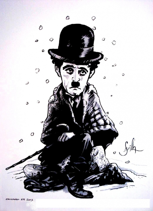Charlie Chaplin by Tonio